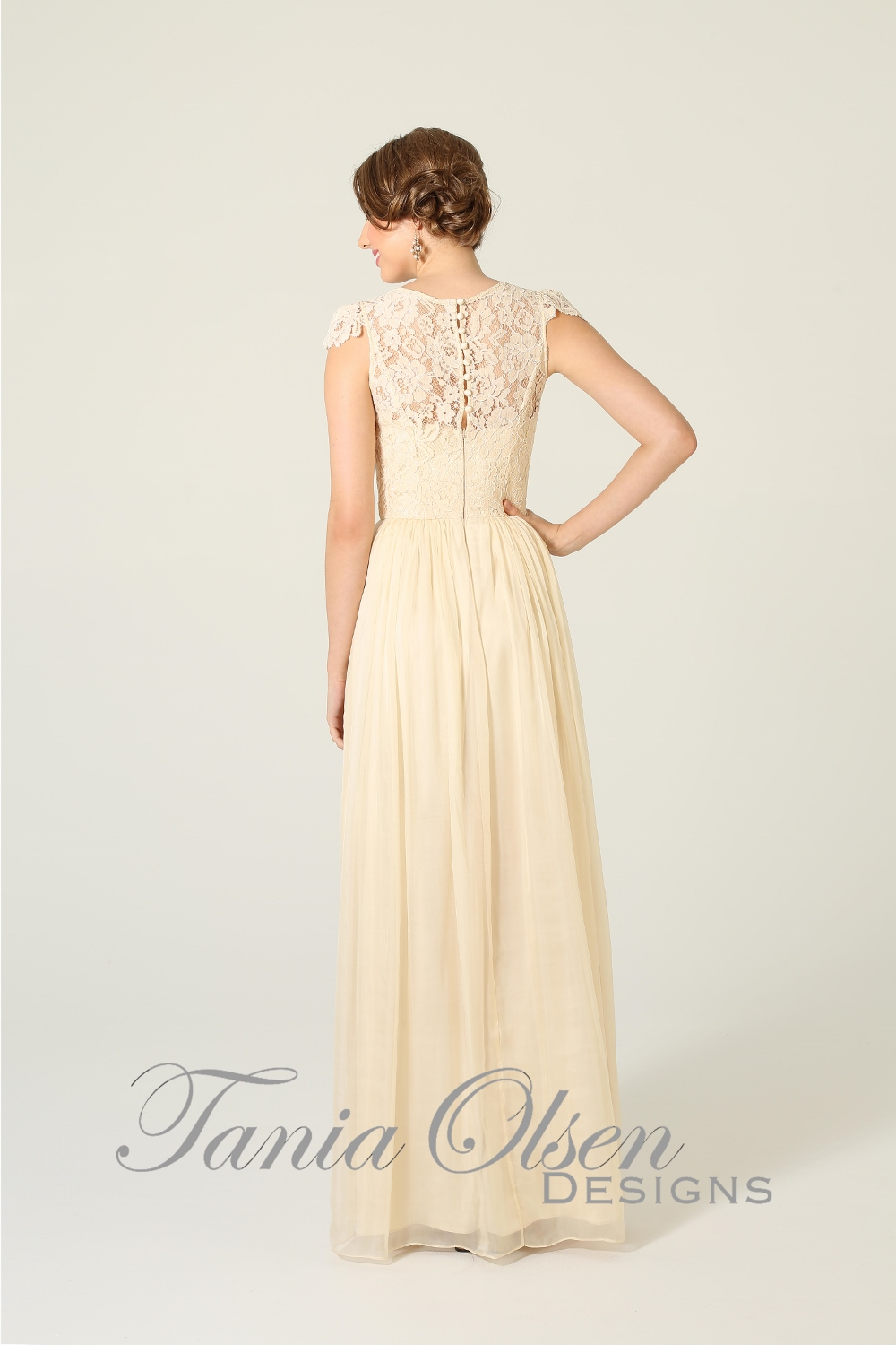 Latitia Bridesmaid Dress Cream