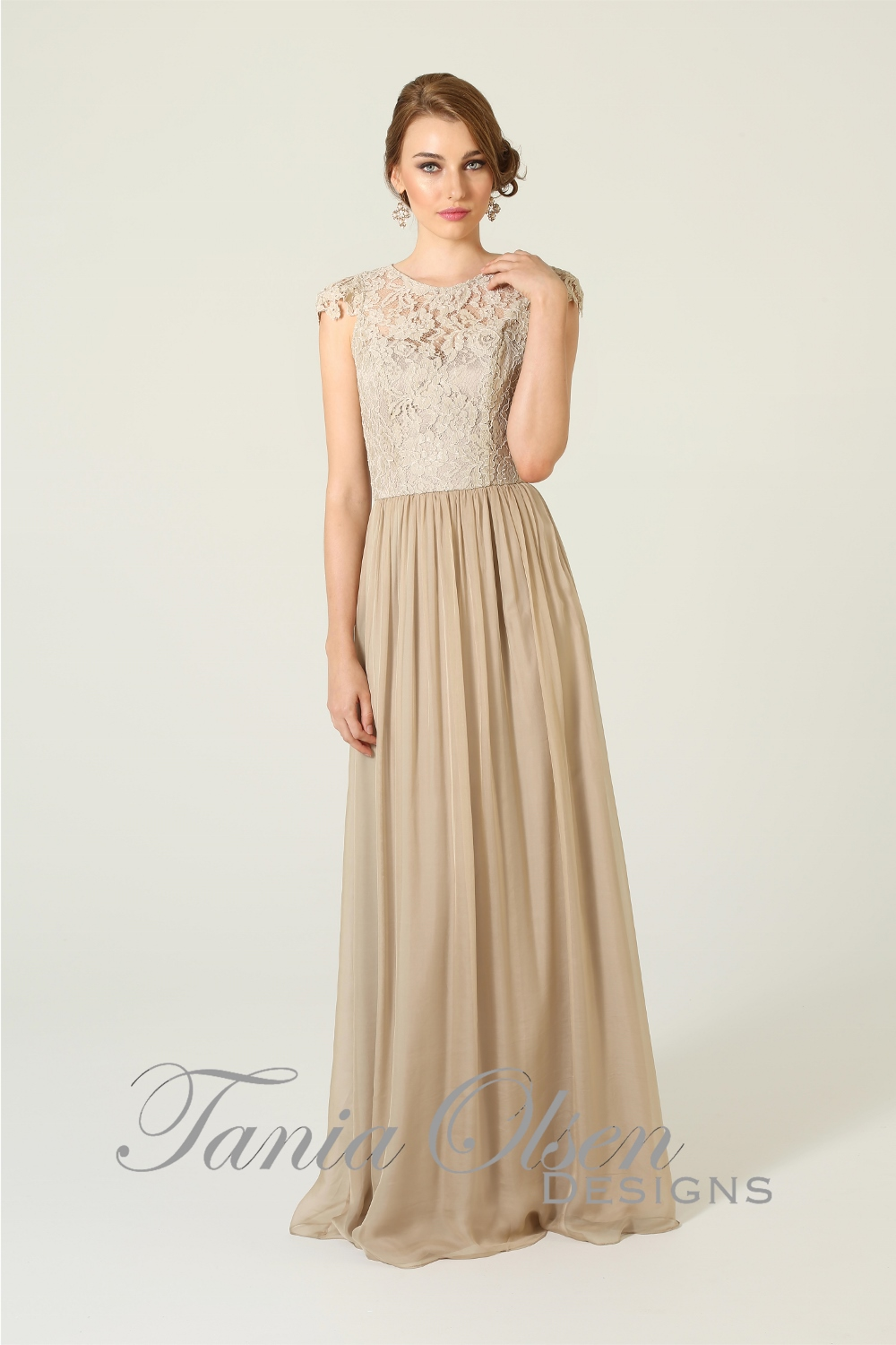 Latitia Bridesmaid Dress Latte