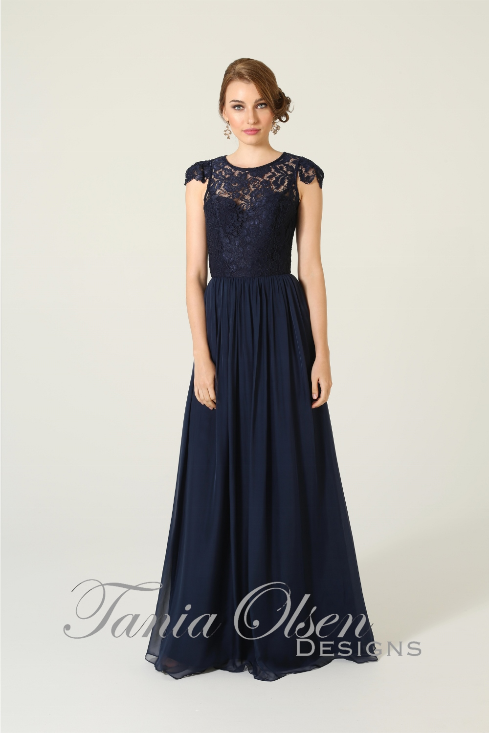 Latitia Bridesmaid Dress Navy