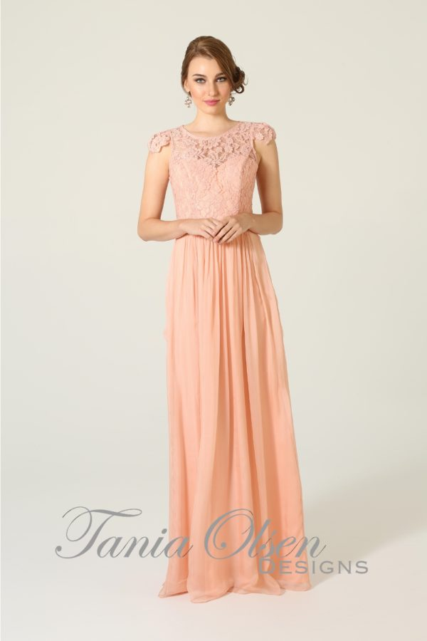 TO16 Latitia Bridesmaids Dress - end of dye lot peach