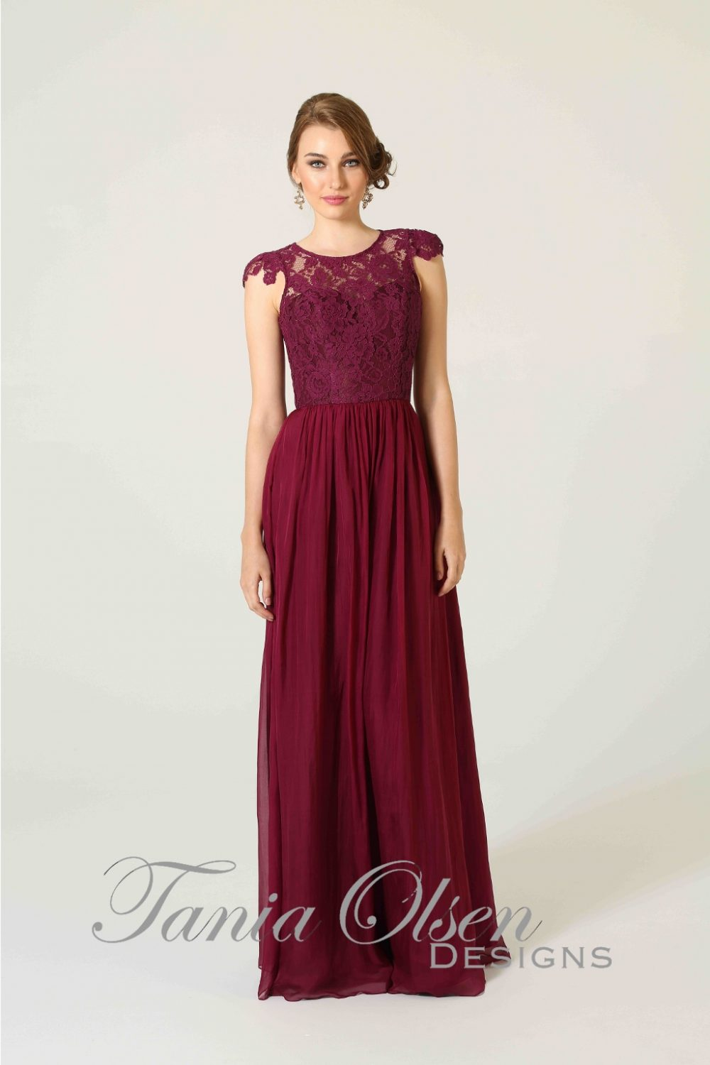 Latitia Bridesmaid Dress Berry