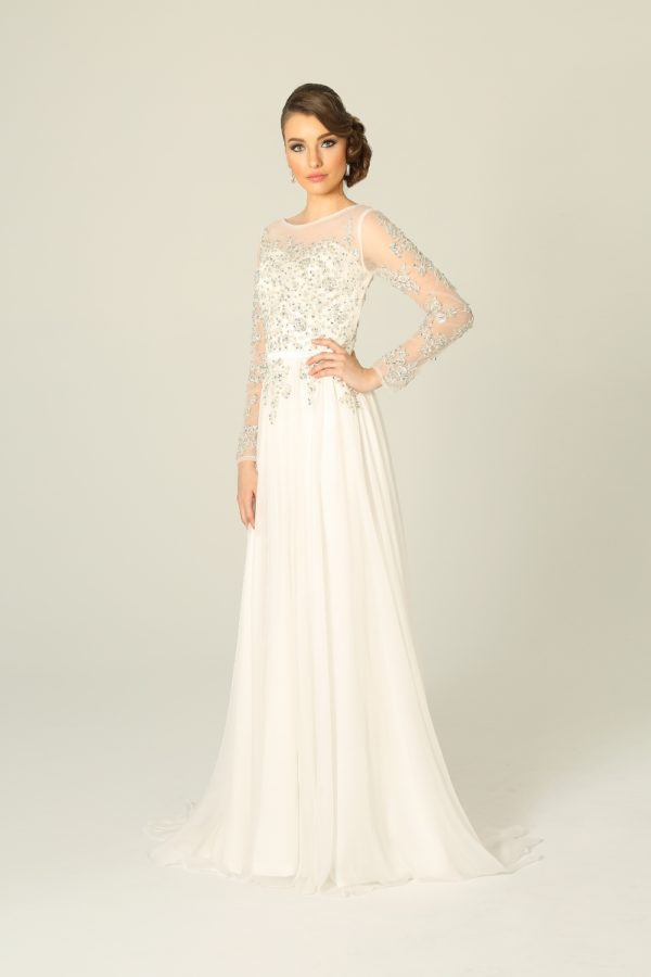 Ivory Embellished Wedding Dress
