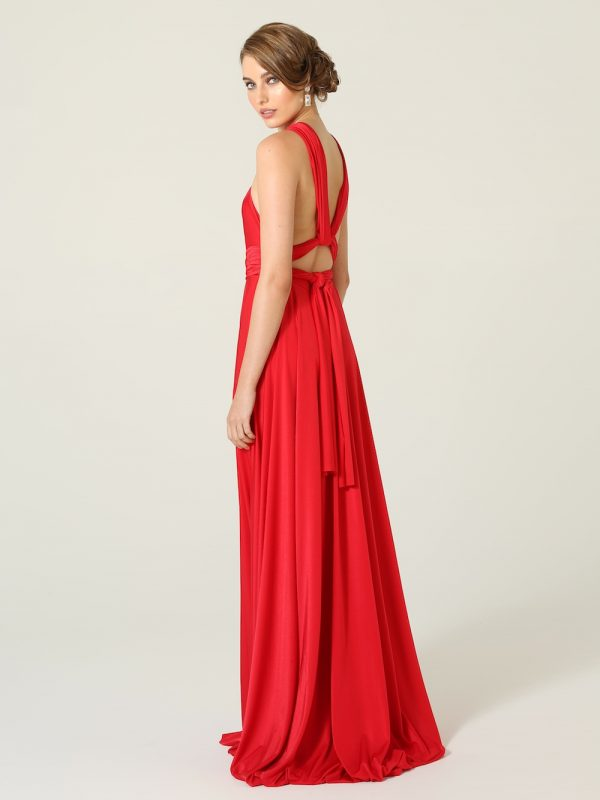 Red Bridesmaid Wrap Dress