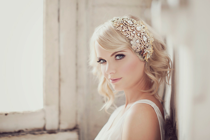 beaded bride headpiece
