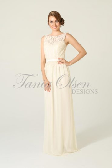 TO41 Sophie Bridesmaids Dress - end of dye lot cream