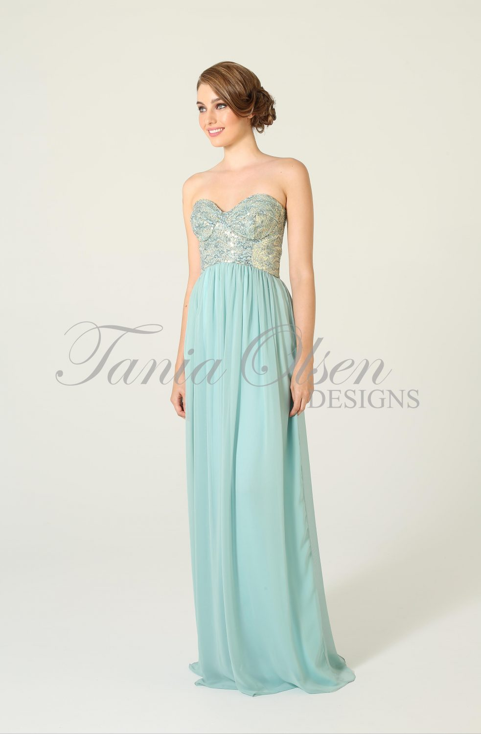 Tiffany Aqua Bridesmaid Dress
