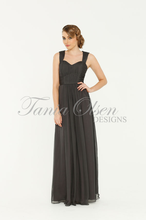 Yasmin Bridesmaid Dress Charcoal