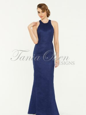 Emily Fishtail Navy Evening Dress