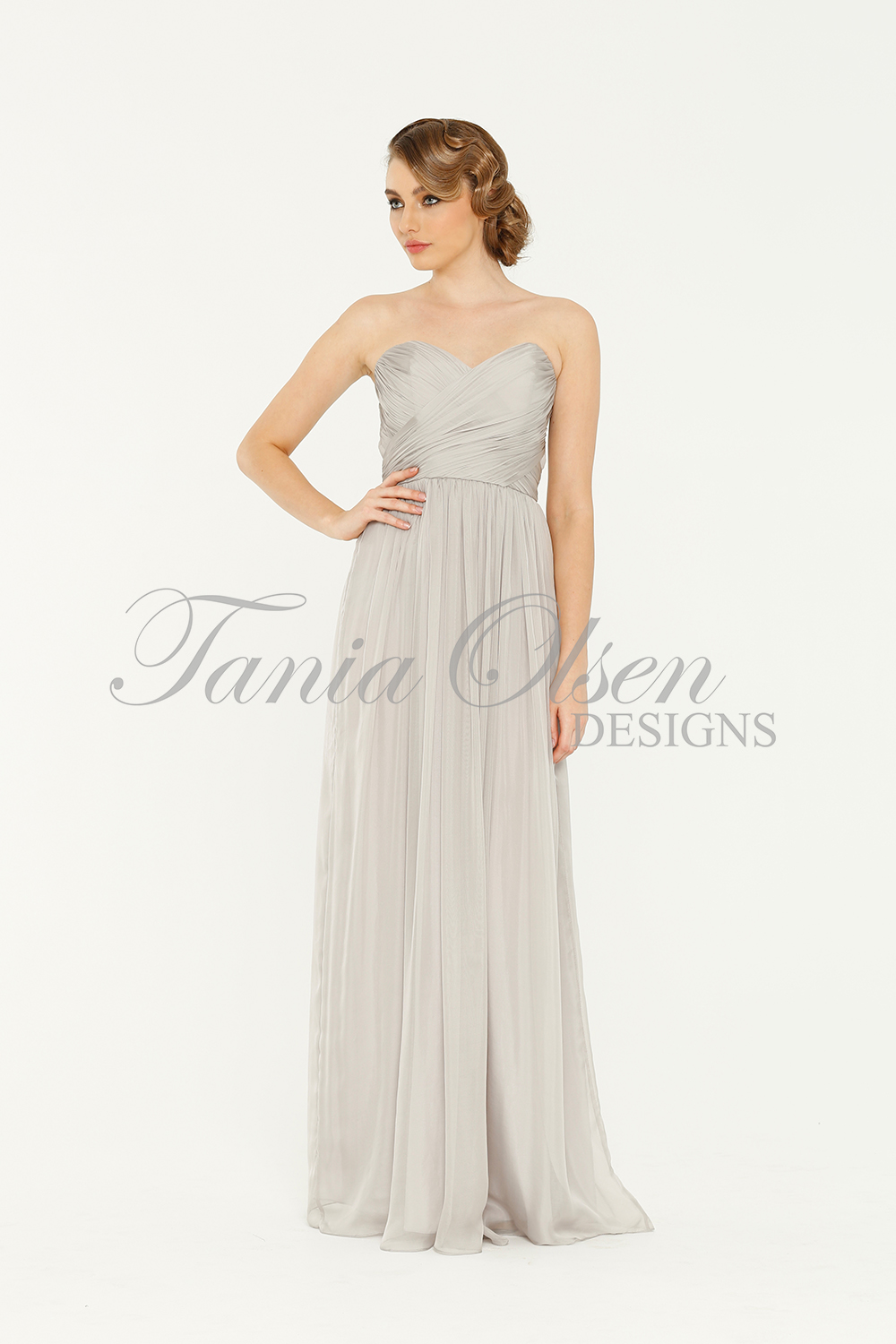 Amelia Grey Bridesmaid Dress