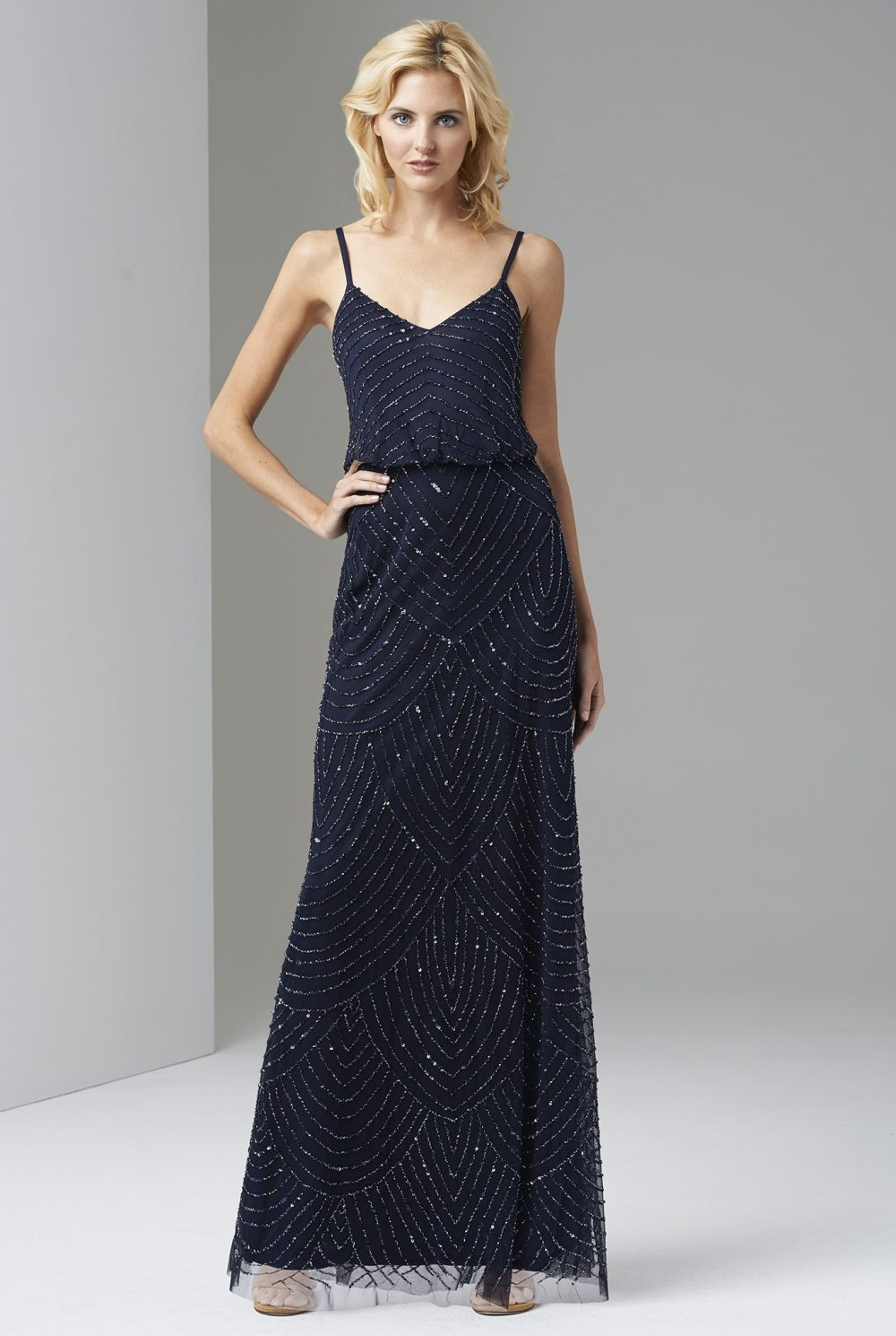navy evening dresses