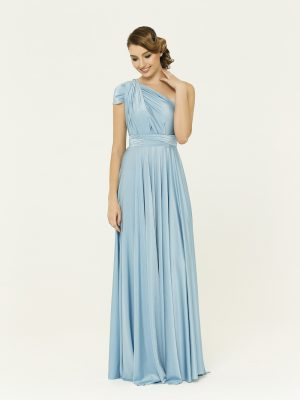 Powder Blue Bridesmaid Wrap Dress