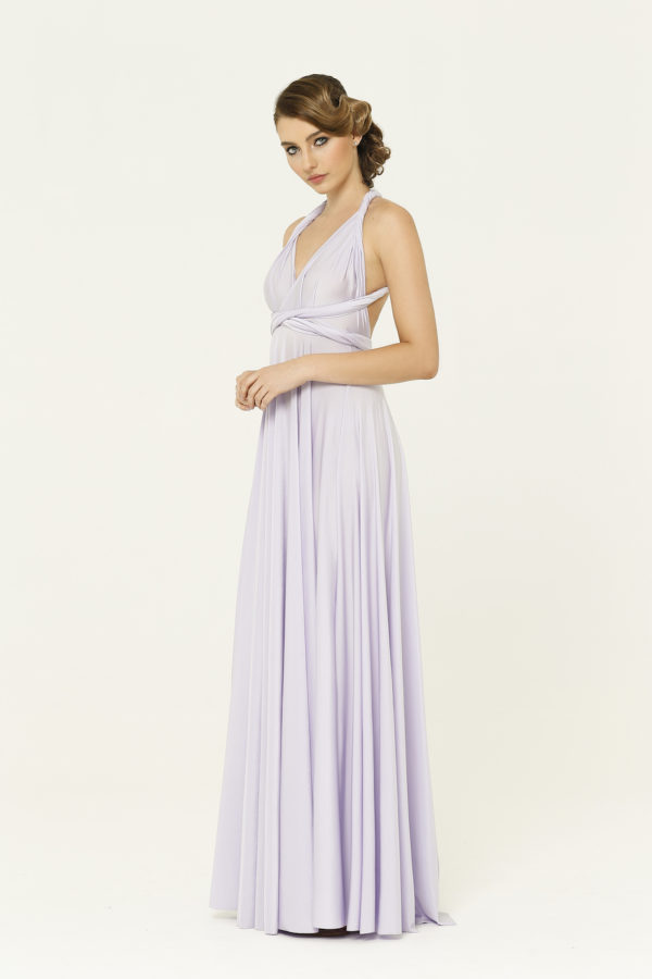 Lilac Bridesmaid Wrap Dress