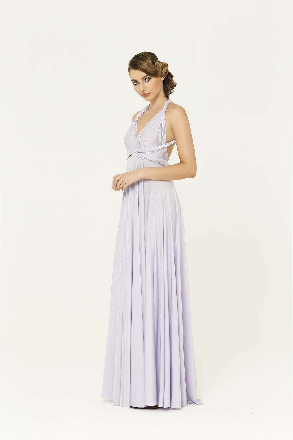Bridesmaid wrap dress lilac bridesmaid wrap dress ombrellifo Gallery
