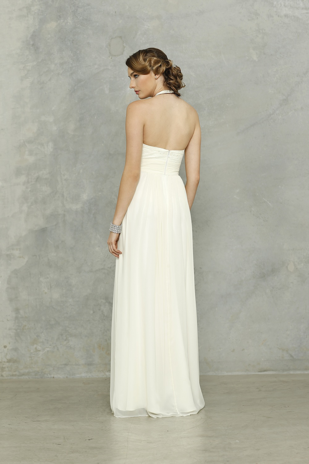 Harlow wedding dress vintage white back