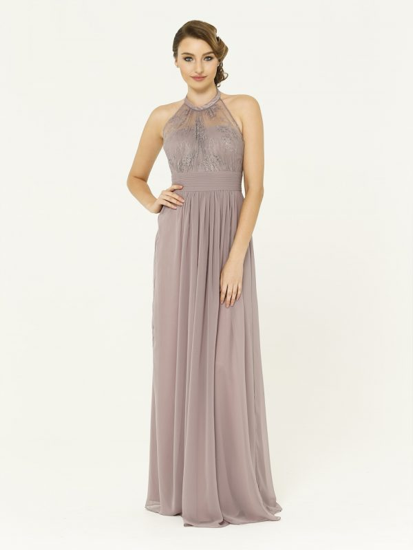 Oyster Harlow Bridesmaid Dress