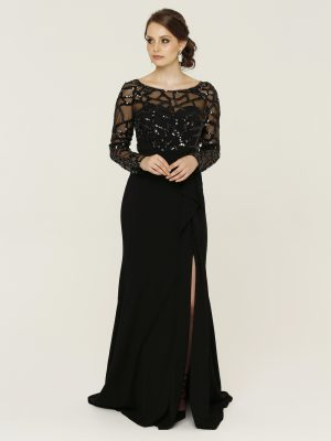 Uma Black Formal Dress