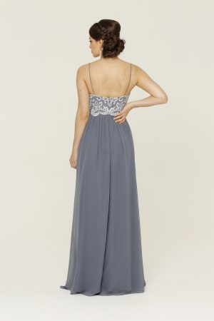 Lani Dusty Blue Formal Dress
