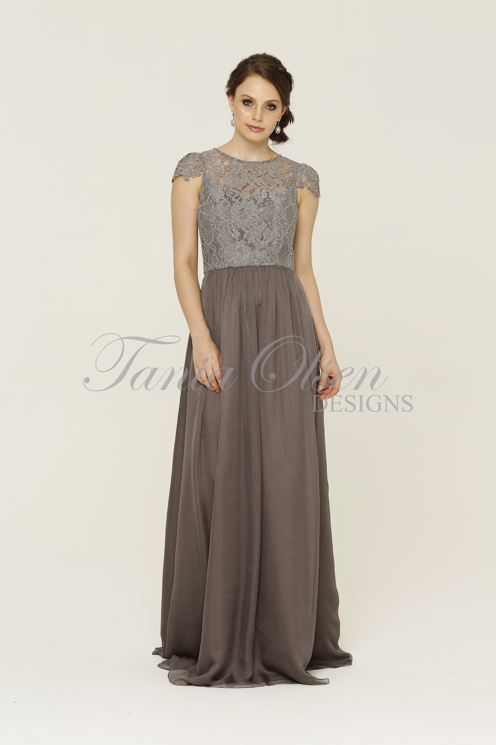 Latitia Bridesmaid Dress Charcoal
