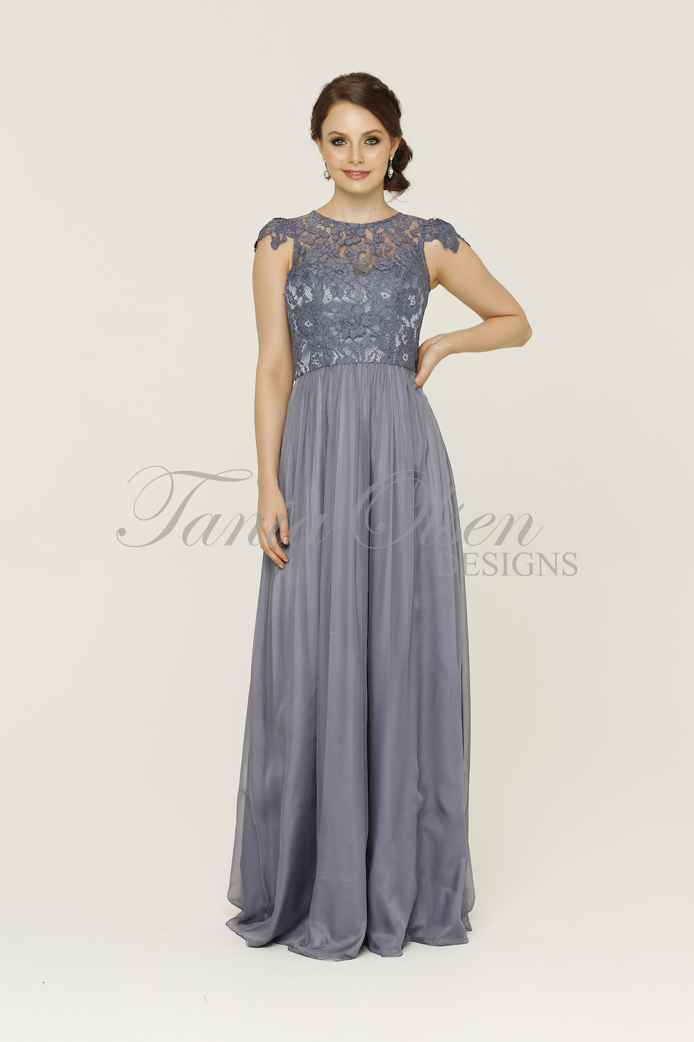 Latitia Bridesmaid Dress Dusty Blue