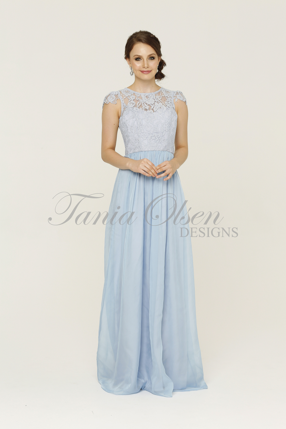 Latitia Bridesmaid Dress Pastel Blue