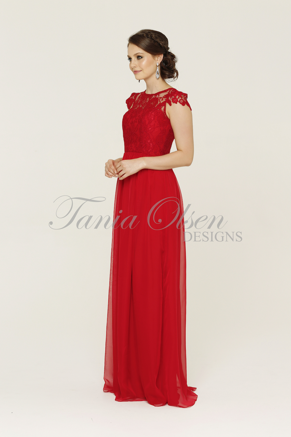 Latitia Bridesmaid Dress Red