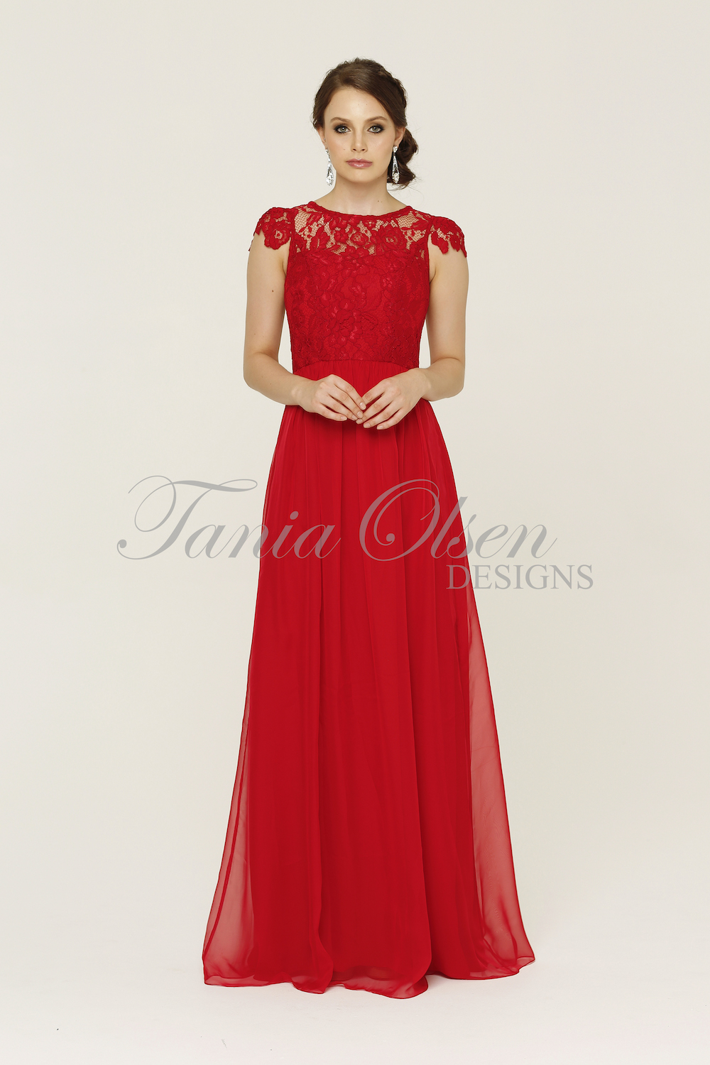 TO16 Latitia Bridesmaids Dress - end of dye lot red