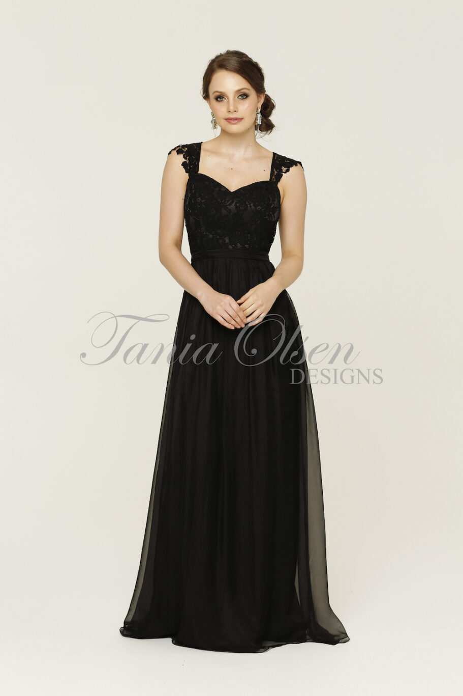 Willow Black Bridesmaid Dress