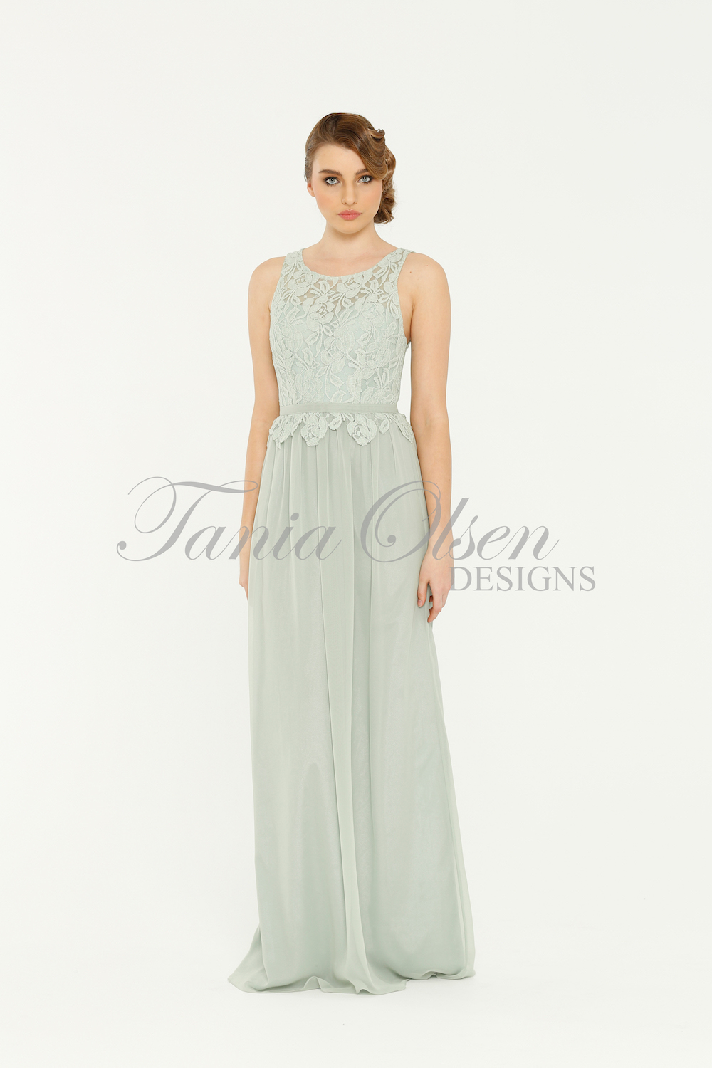 TO41 Sophie Bridesmaids Dress - end of dye lot sage