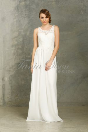 Sophia White Bridesmaid Dress
