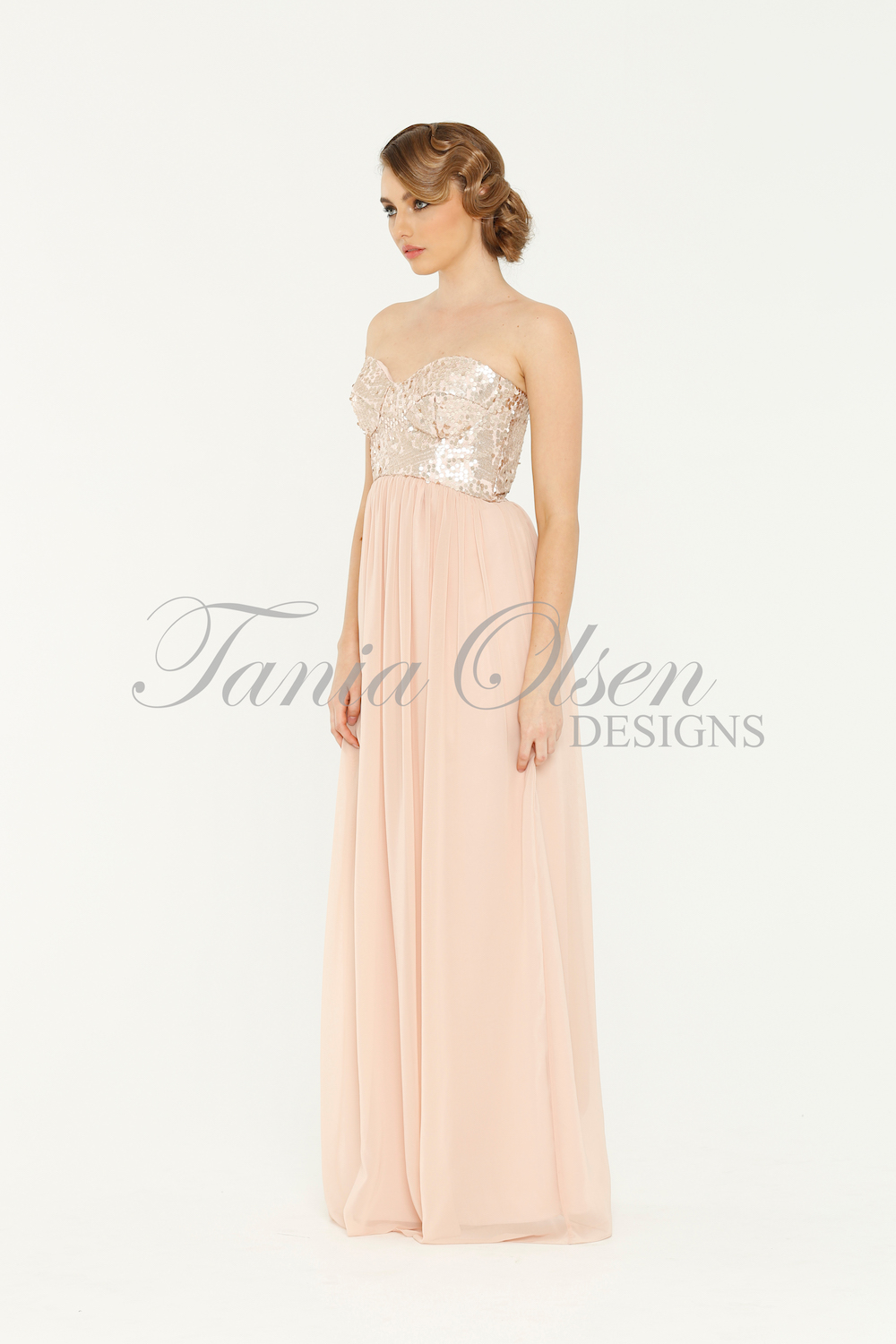 Tiffany Blush Bridesmaid Dress