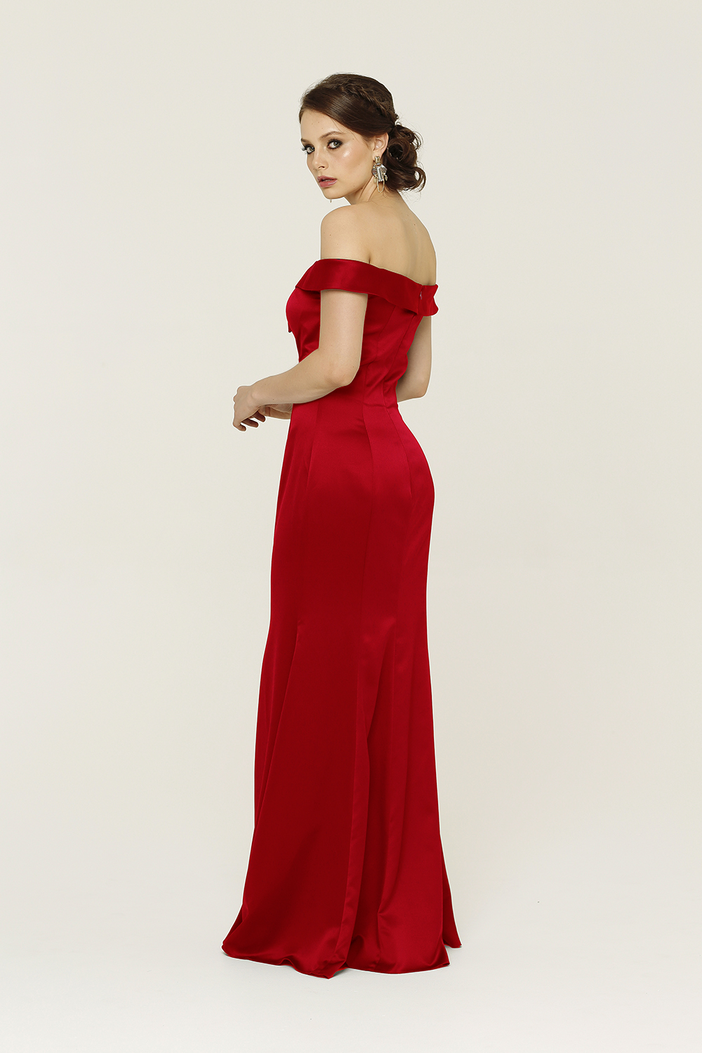 PO64 Ava dress back red