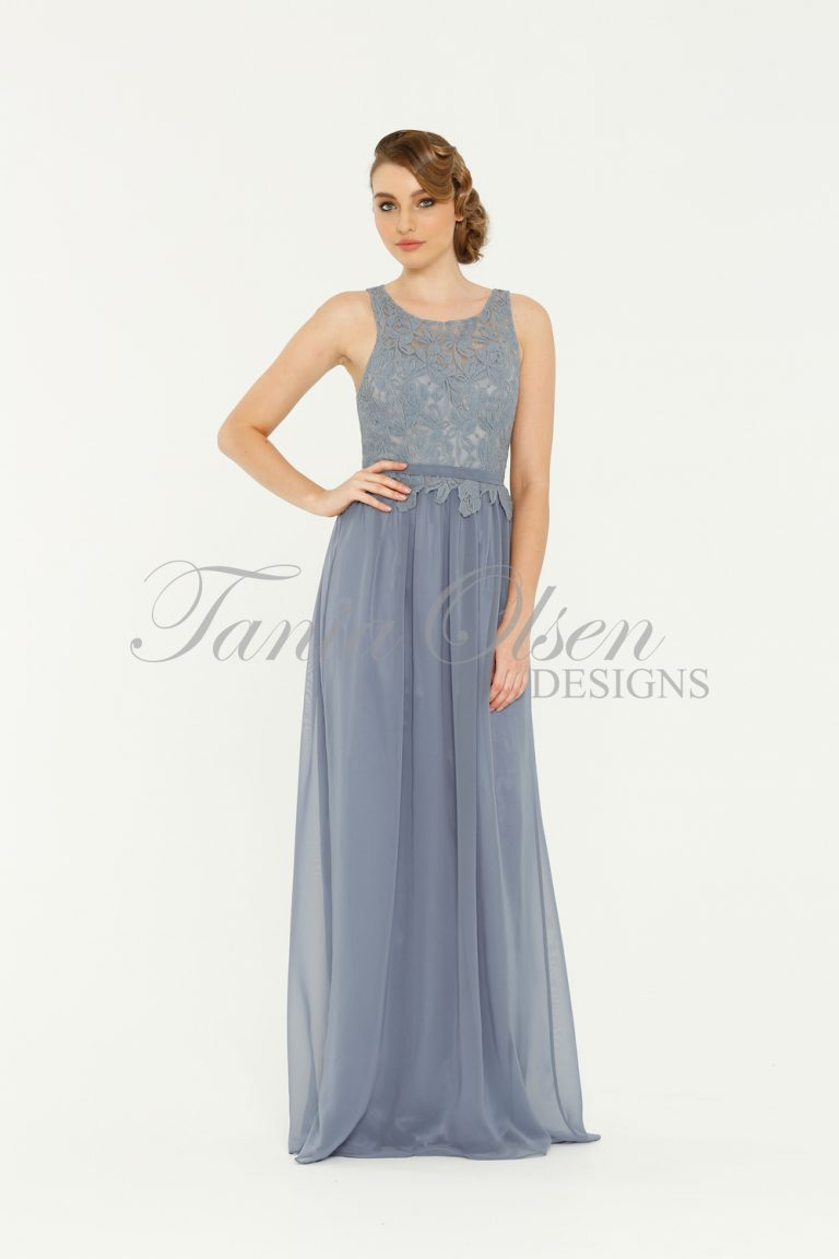 TO41 Sophie Bridesmaids Dress - end of dye lot dusty blue