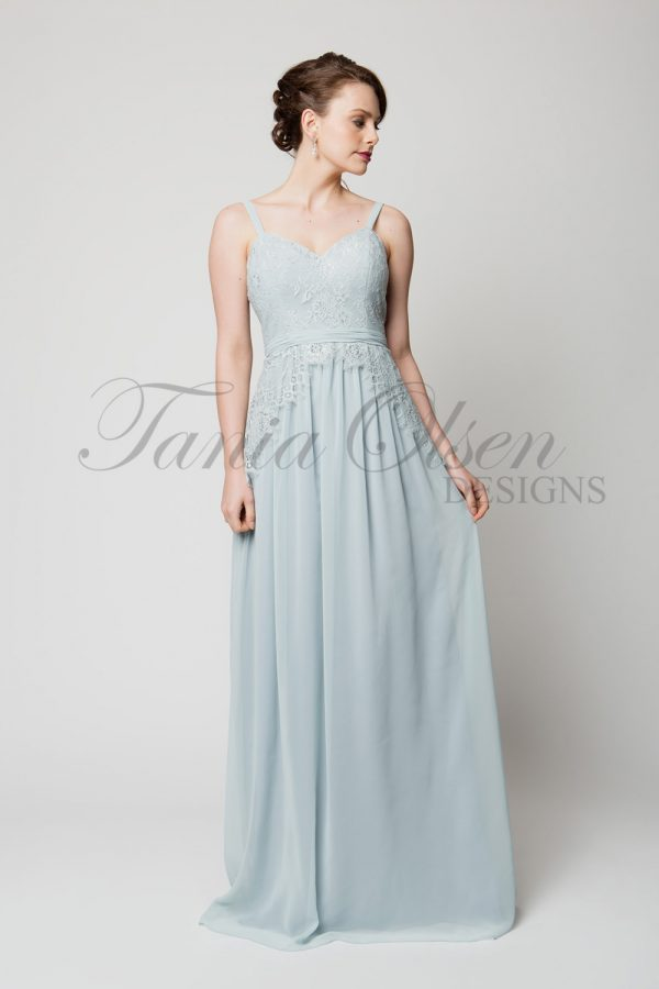 to48 Anais Bridesmaid Dress Powder Blue Front