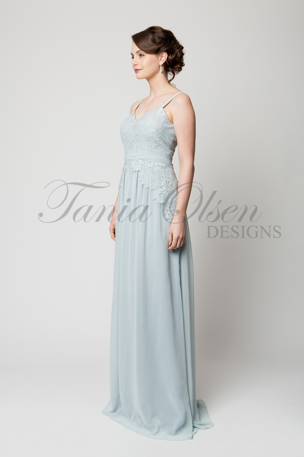 to48 Anais Bridesmaid Dress Powder Blue Side