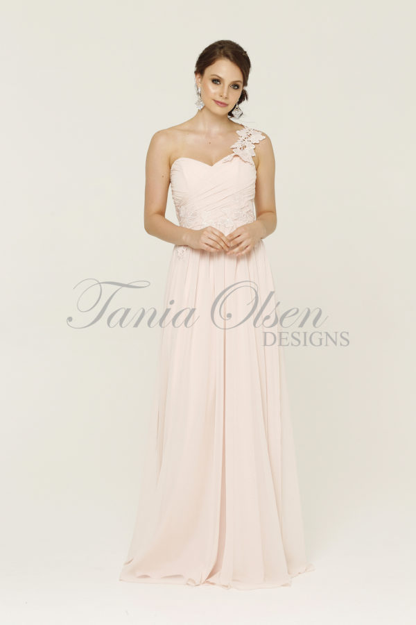 Aloha Soft Pink Bridesmaid Dress