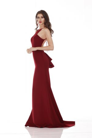Red Low Back Formal Dress