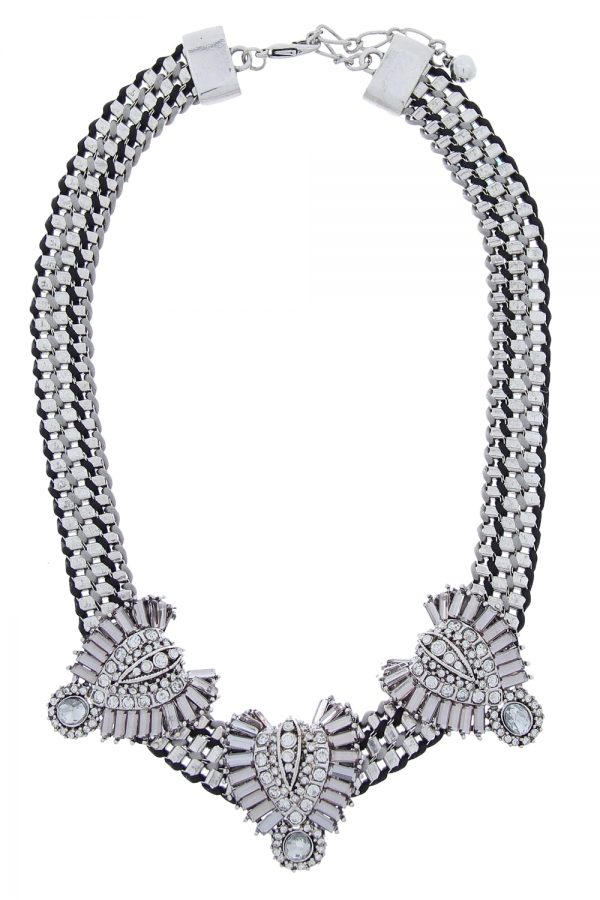 eweled Chain Collar Necklace