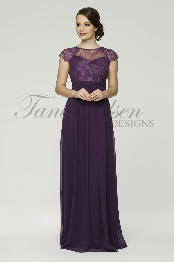 TO37 Camilla Bridesmaid Dress - end of dye lot aubergine