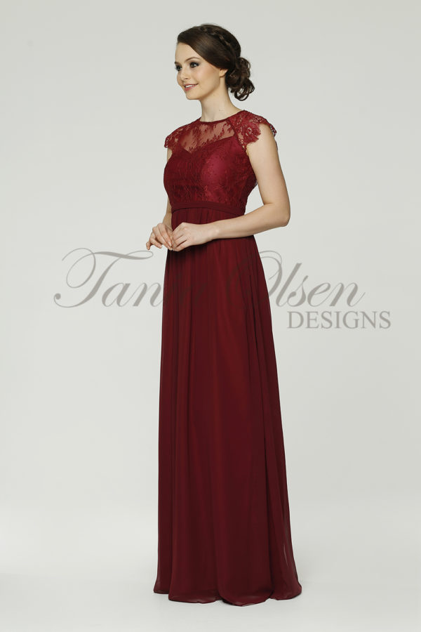 TO37 Camilla Bridesmaid Dress - end of dye lot merlot