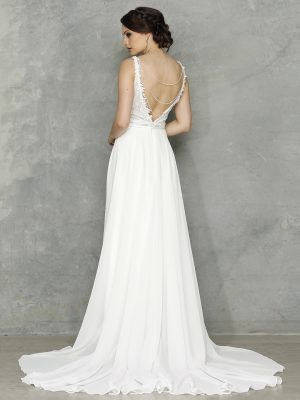 Chanel Wedding Dress Back