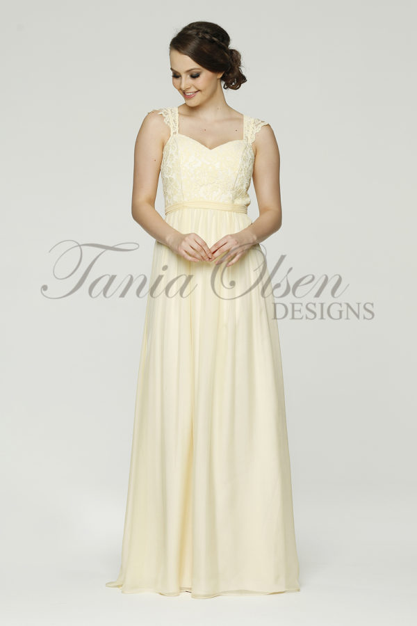 Willow Yellow Bridesmaid dress TO34 yellow