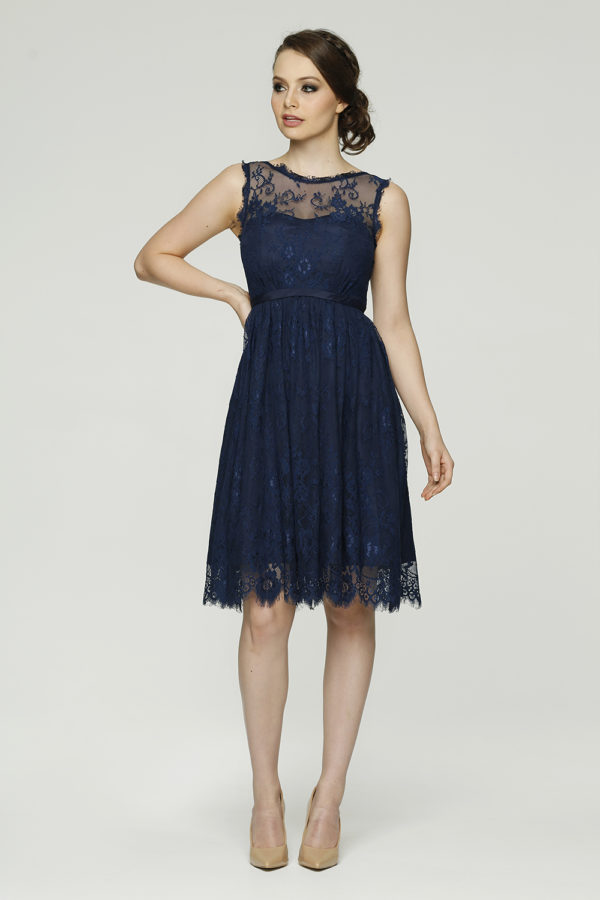 Audrey Bridesmaid dress PO56 navy