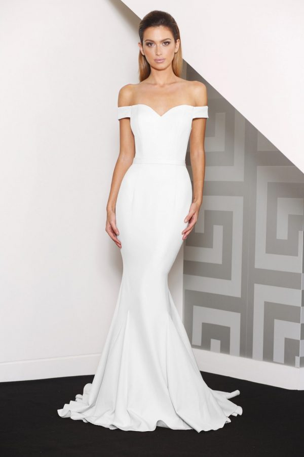 lucy evening dress white