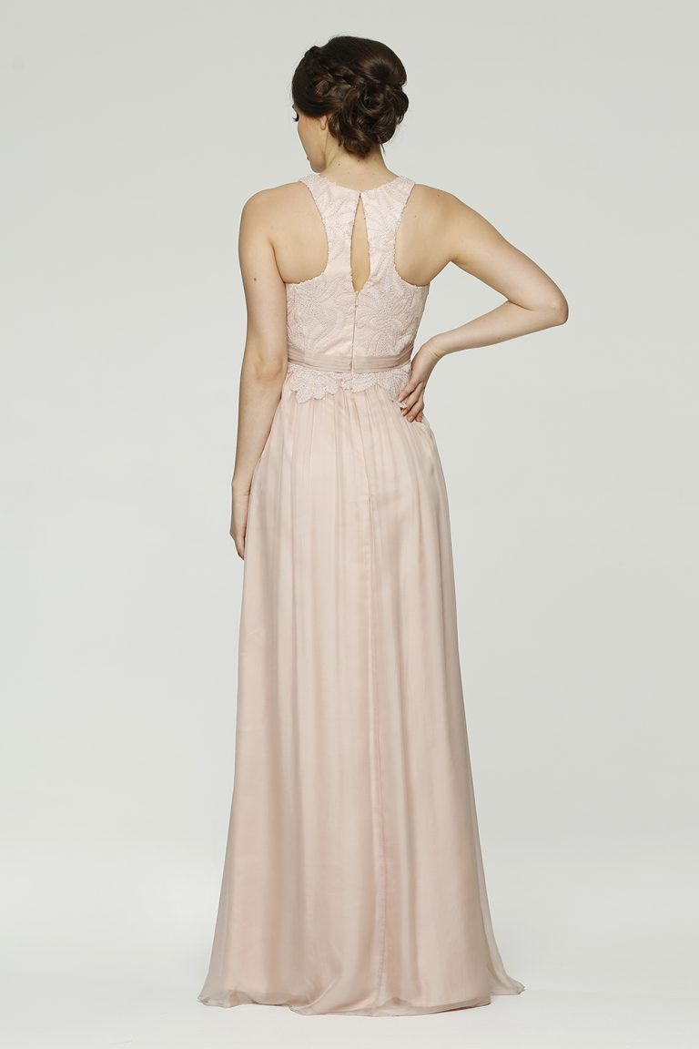 Monica Bridemaid dress back tea rose