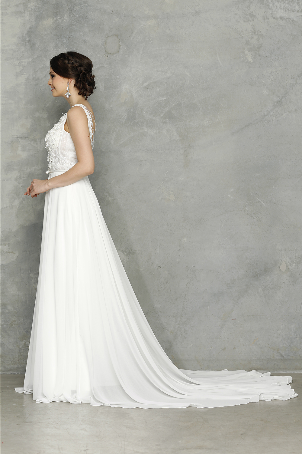 Chanel Wedding dress side