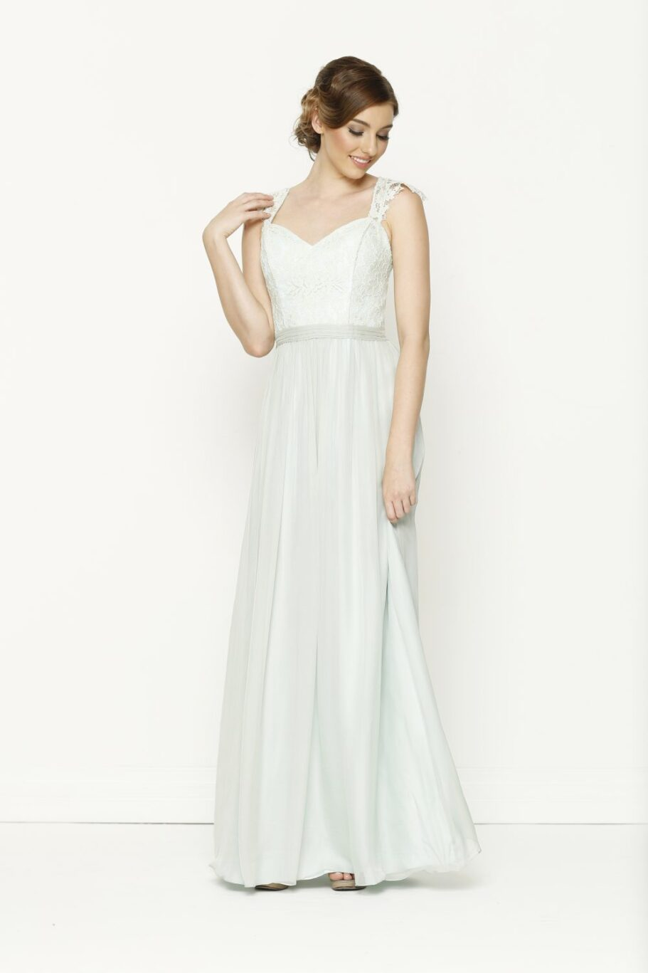 TO34 Willow bridesmaid dress mint.