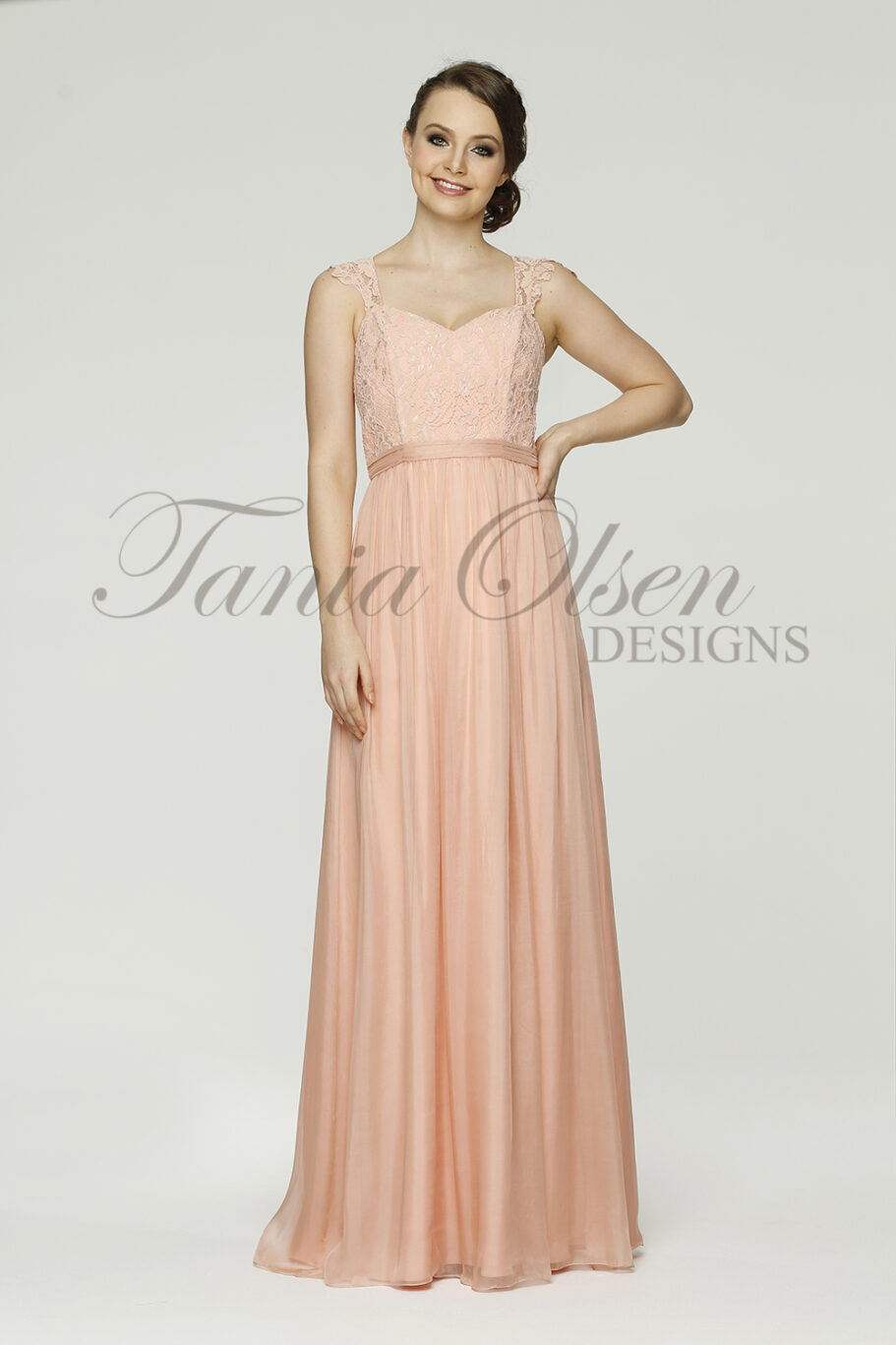 Willow Bridesmaid dress TO34 peach