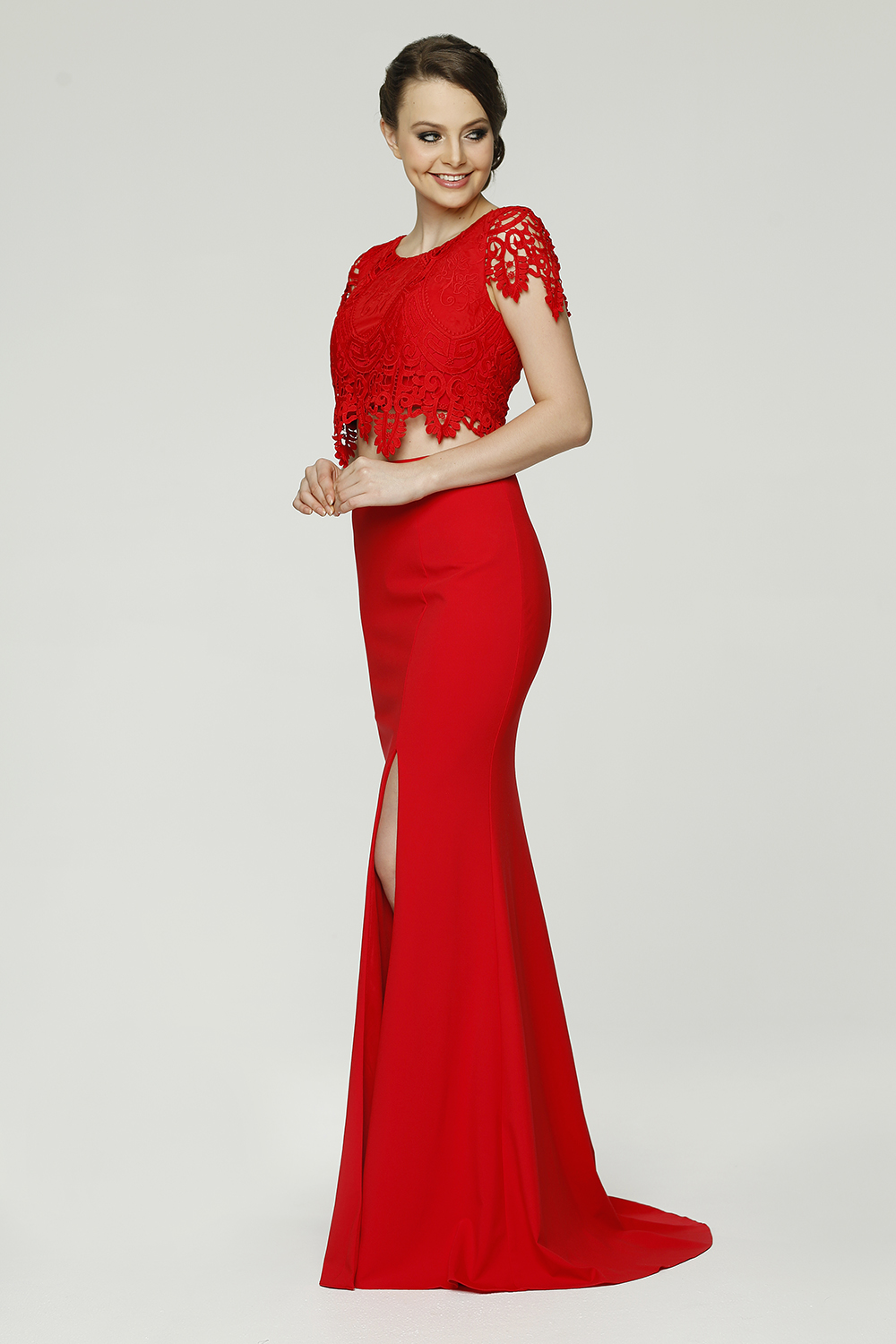 Zoe Formal dress red side