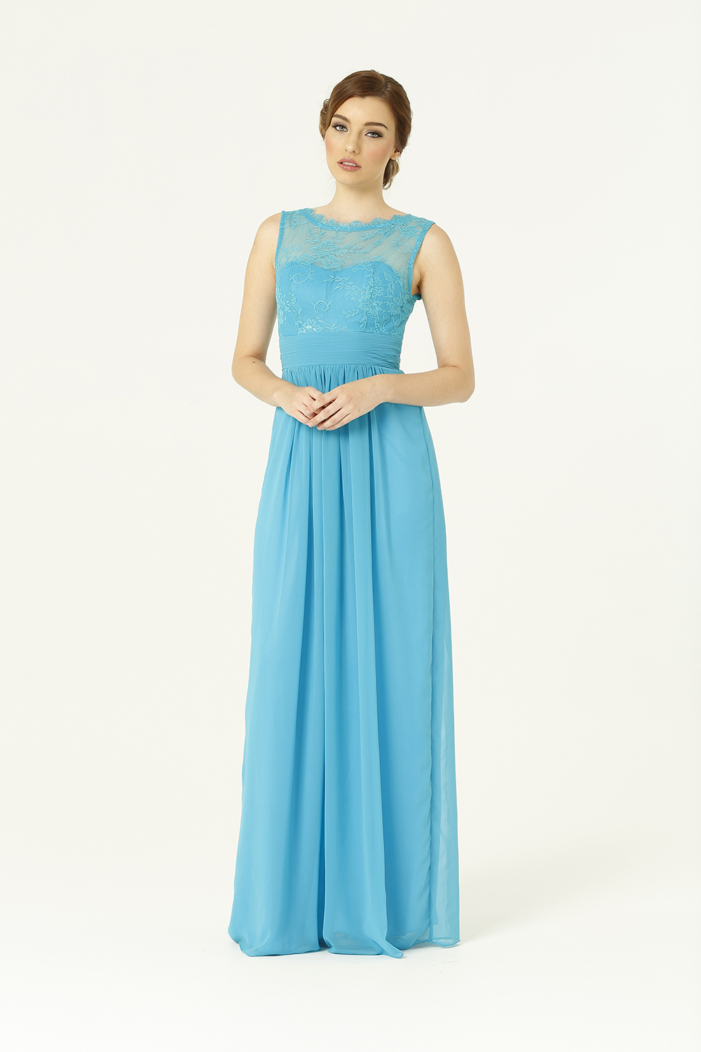 PO34 Charlotte Bridesmaids Dress - end of dye lot aqua