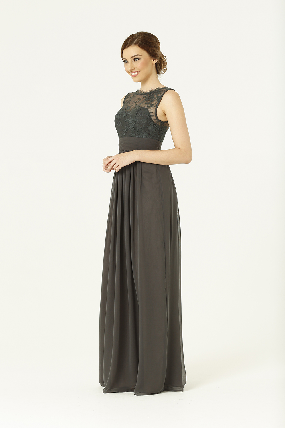PO34 Charlotte Bridesmaids Dress - end of dye lot charcoal